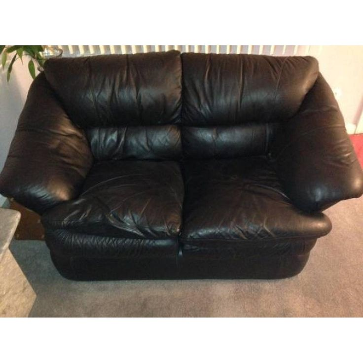 loveseat leather - Black Leather Loveseat