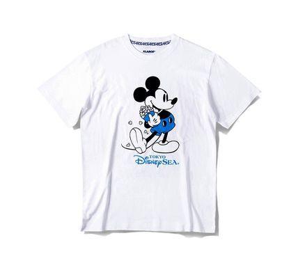TDS限定 XLARGE コラボ Tシャツ ミッキー ポップコーン 白