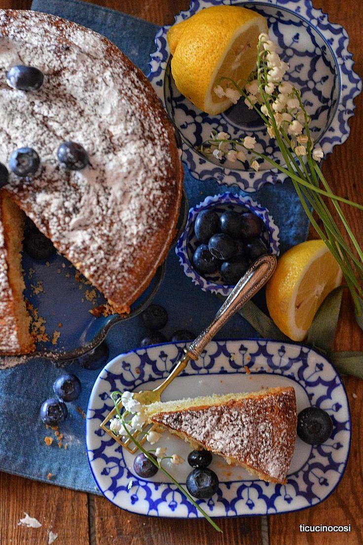 Torta limone, mirtilli - Lemon cake, blueberry