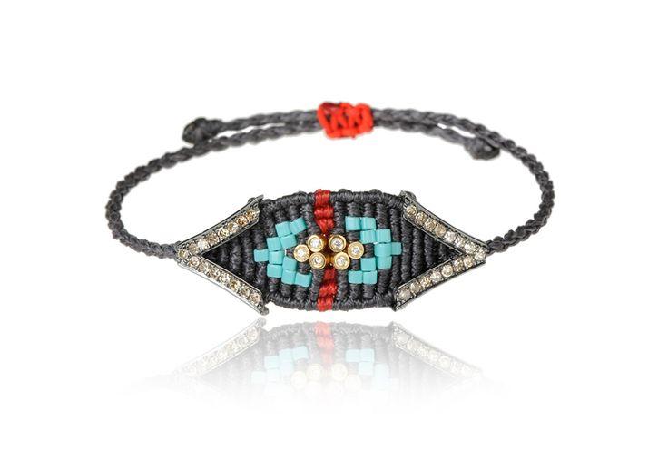 Zoe Kompitsi   Brown Diamond Bracelet