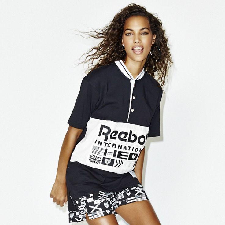 ME x Reebok Vintage Henley Tee - Black from Melodyehsani