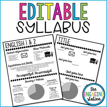 You will receive one visual (infographic) syllabus template with a filled-in version and a blank canvas. If you have not heard of a visual syllabus, it is a standard syllabus organized in a more appealing format with some (or lots) of clip art and design elements.