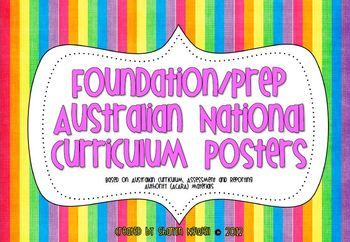 Foundation/Prep Australian National Curriculum Posters