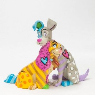 Disney Britto Lady And The Tramp 60th Anniversary Figurine