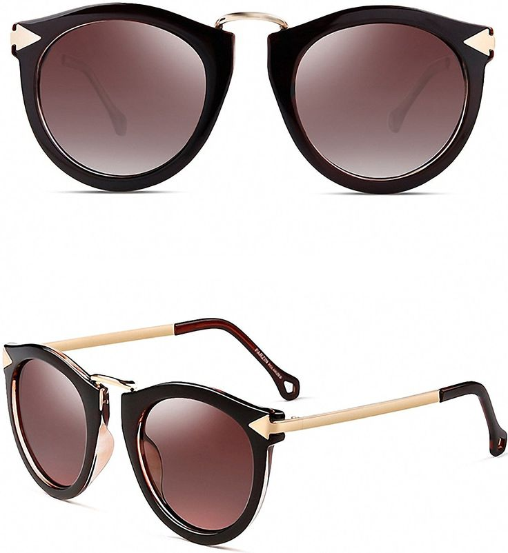 ATTCL® Vintage Fashion Round Arrow Style Wayfarer Polarized Sunglasses for Women 11189 Floral: Amazon.co.uk: Clothing