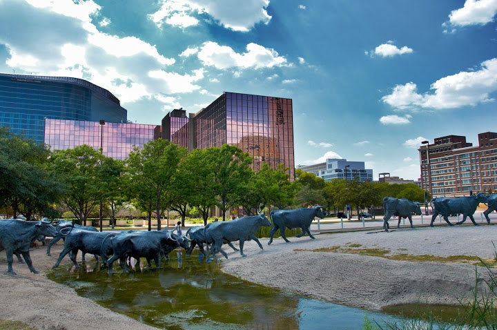 Pioneer Plaza. Dallas, Texas. Photo by Andy New.