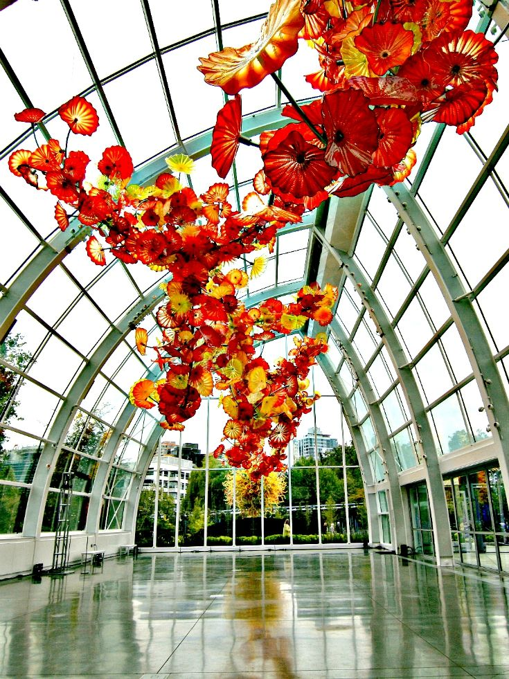Dale Chihuly's Garden and Glass in Seattle, Washington | http://www.rtwgirl.com/seattle-day-trip-itinerary/