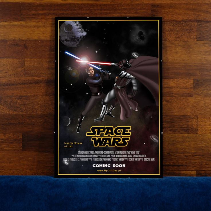 "Plakat Filmowy ""Space Wars"" - MyGiftDna"