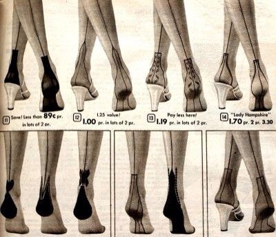 Vintage stockings 1940s 1950s