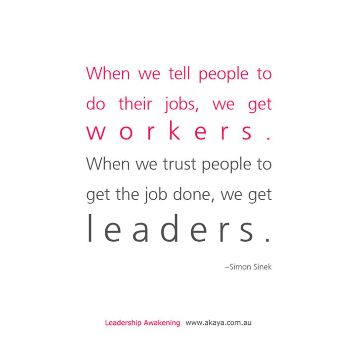 When we tell people to do their jobs we get workers. When we trust people to get the job done we get leaders Simon Sinek.  I love Simon Sinek's work! He makes so much sense. Like this quote. If you order people around how are they going to develop self direction and responsibility? Why would they take ownership of their work and have a sense a pride?  Trust. A five letter word that carries so much power. Lack of trust causes a dysfunctional workplace.  It also causes a dysfunctional…