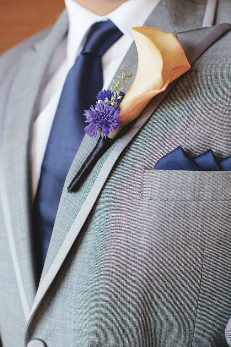 For The Boys...grey Suit With Navy Tie