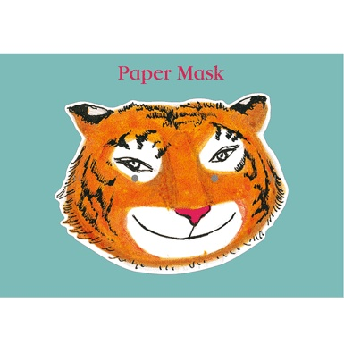 Paper Mask / Design adapted from The Tiger Who Came To Tea by Judith Kerr