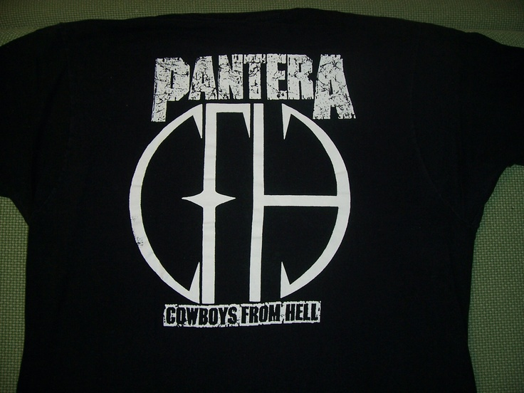 back of the pantera shirt cowboys from hell cfh logo