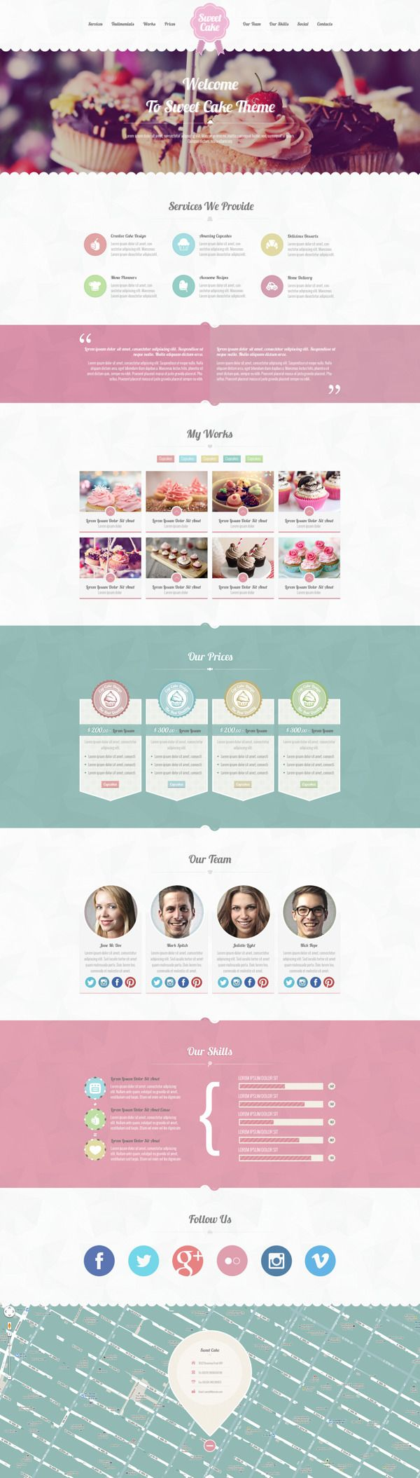 Sweet Cake - One Page PSD Theme on Behance