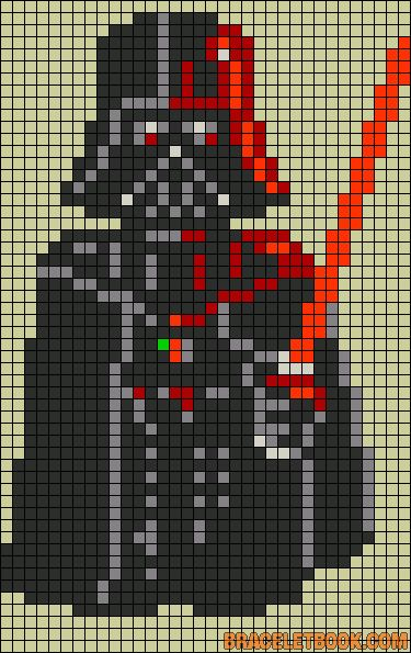 Darth Vader Star Wars perler bead pattern