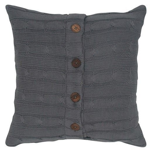 Add a little zest to any space with this stylish Sweater Knit with Wooden Button Closure Decorative Pillow. These little colorful decorative pillows are filled with 100% polyester, which will make them a comfy addition to any sofa, armchair, bed, or day bed. The perfect accent piece for all kinds of furniture, toss pillows can be mixed and matched throughout your home to reflect any design scheme you choose. Guaranteed to spice-up the appeal of any bed or couch, a decorative pillow is a…