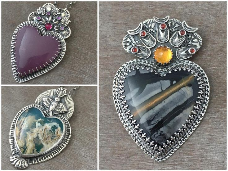 Sacred heart pendants by, Prox @proxartist on instagram