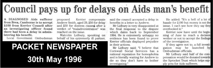 Cornish authorities getting plenty bad press over their institutional attitudes to HIV/AIDS suffers...& gay men!  #LGBT  http://www.lgbthistorycornwall.blogspot.com