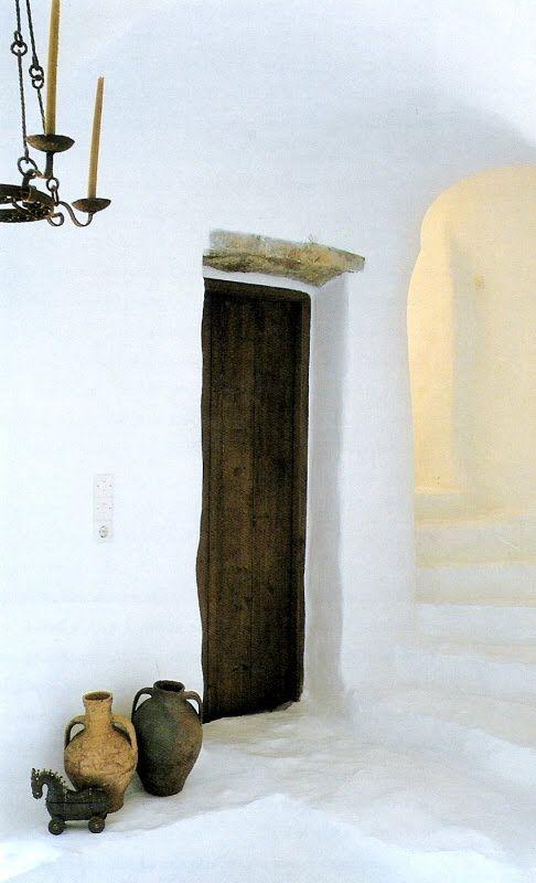 white plaster, Mediterranean Style