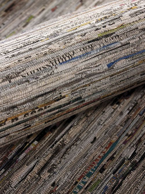 wallpaper made from newspaper??? Awesome!