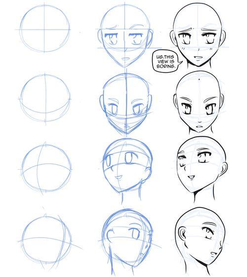 how to draw manga faces | Tumblr