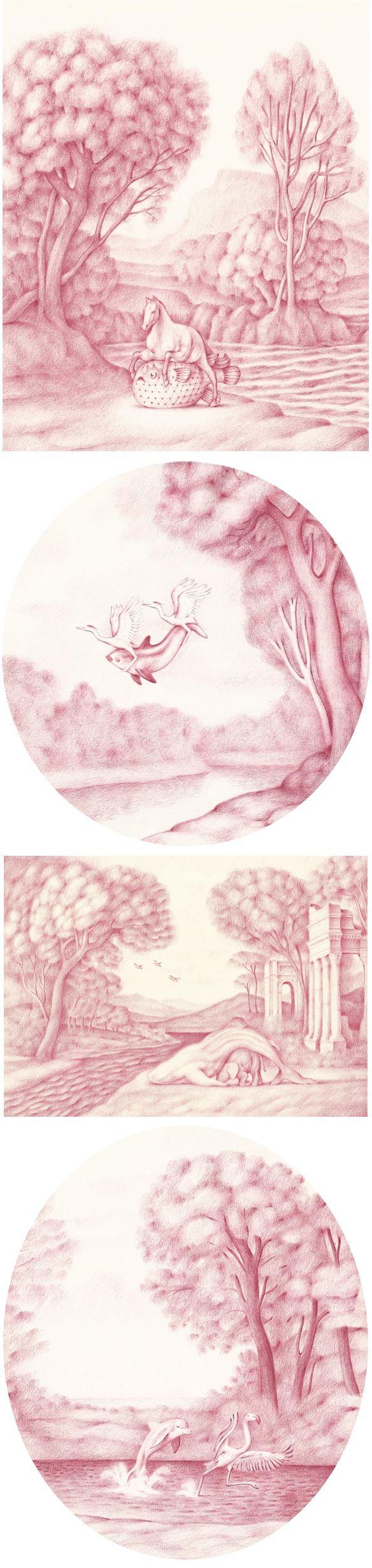 color pencil drawings by sam branton <3