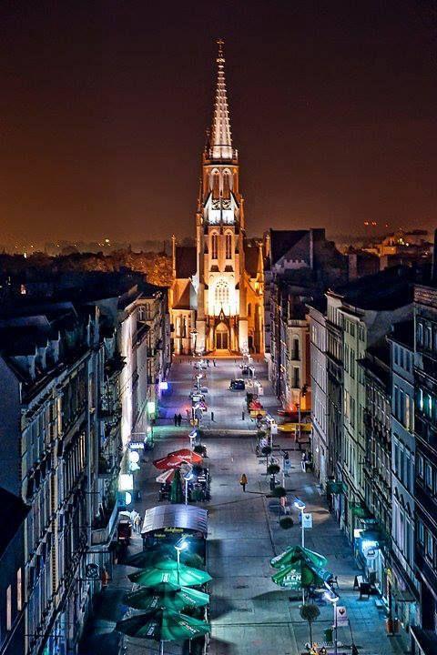 Mariacka Street Katowice, Poland
