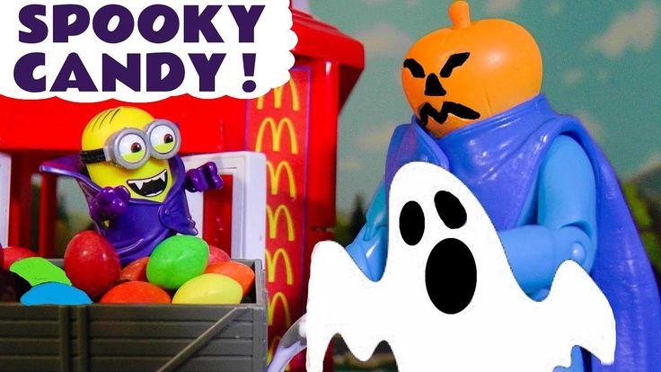 Minions McDonalds Halloween Spooky Candy Johny Johny Yes Papa Learn Colo...