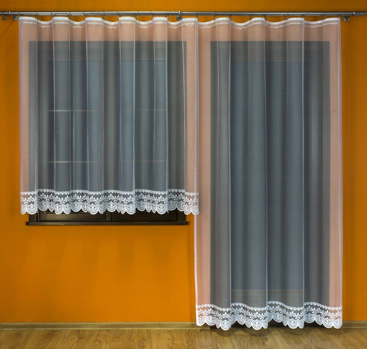 Komplet balkonowy żakardowy - 017348 kol. biały - 160x500cm (160x300cm+250x200cm)