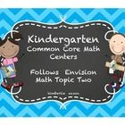 This kindergarten center pack follows the standards taught in Envision Math Topic Two.