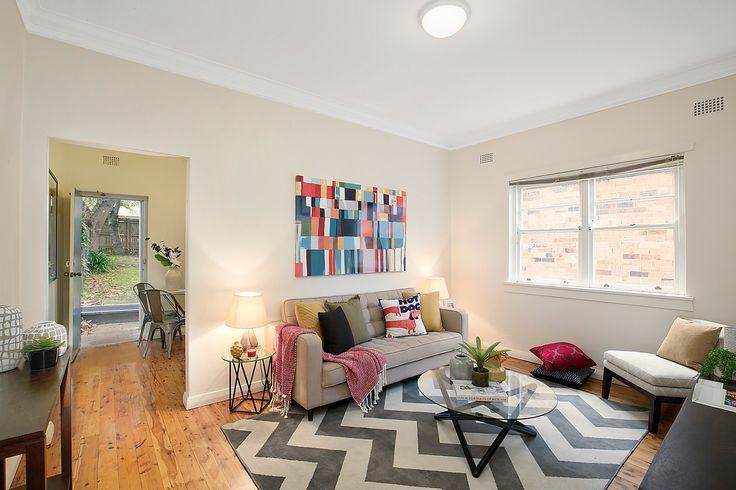 Light, bright living room with polished floorboards - 2/31 Bartlett Street Summer Hill at Pilcher Residential
