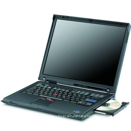 "Laptop Centrino 1733 Mhz, Ibm R52 = 455 lei  Laptop ieftin second hand Ibm R52 cu procesor Intel Centrino 1733 mhz, memorie 1 gb ram ddr2, harddisk 60 gb, unitate combo (cd-r\rw - dvdrom), placa retea wireless, bluetooth, display 14""."