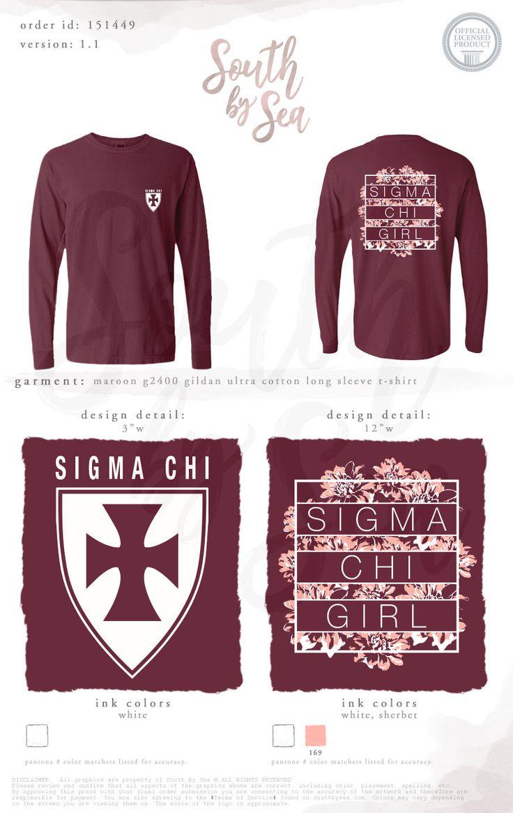 Sigma Chi | Sigma Chi Sweetheart | Floral Design | Crest Design | South by Sea | Greek Tee Shirts | Greek Tank Tops | Custom Apparel Design | Custom Greek Apparel | Sorority Tee Shirts | Sorority Tanks | Sorority Shirt Designs