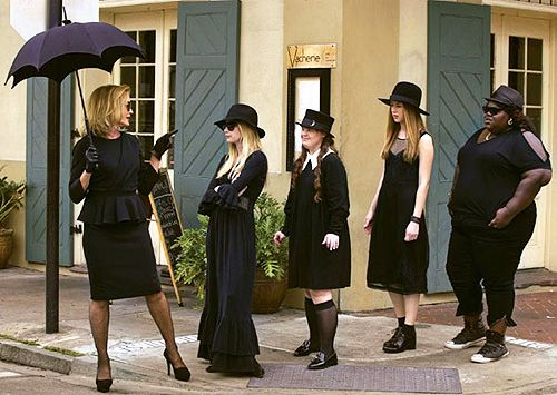 A Bounty of New American Horror Story: Coven with Jessica Lange and Taissa Farmiga #AHS