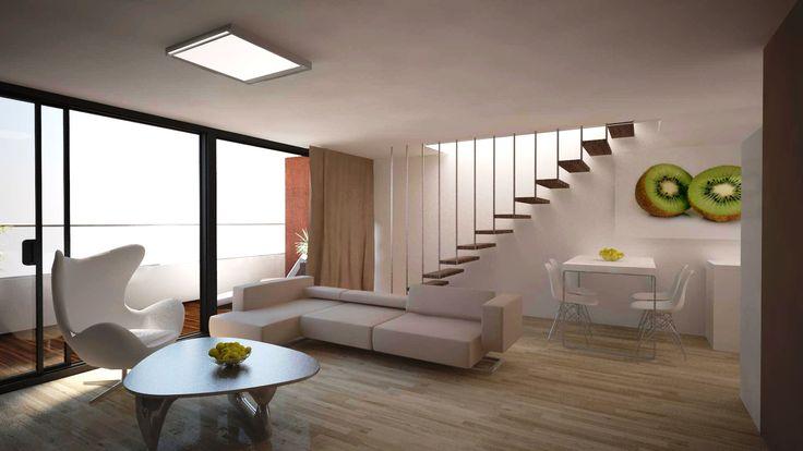 Obývačka v mezonete na 11 NP