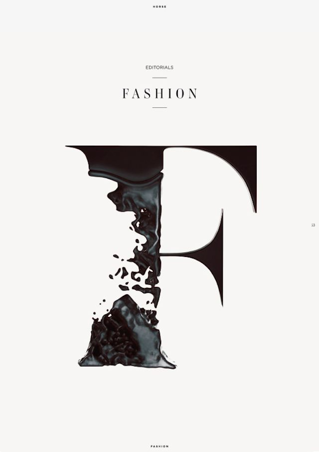 """The texture of F looks like silk which is broken into pieces. This idea may illustrate the element """"break the rules"""" in fashion industry."""