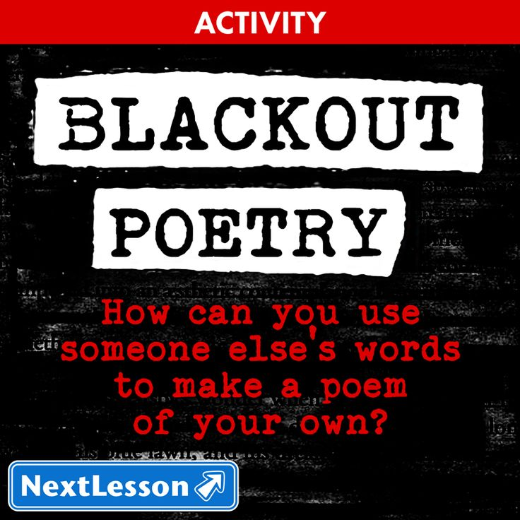 blackout poetry information media literacy creative thinking self monitoring and self. Black Bedroom Furniture Sets. Home Design Ideas