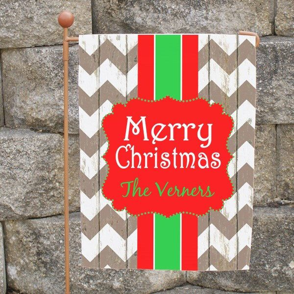 garden flag christmas flag garden flag rustic chevron merry christmas flag yard flag wedding gi