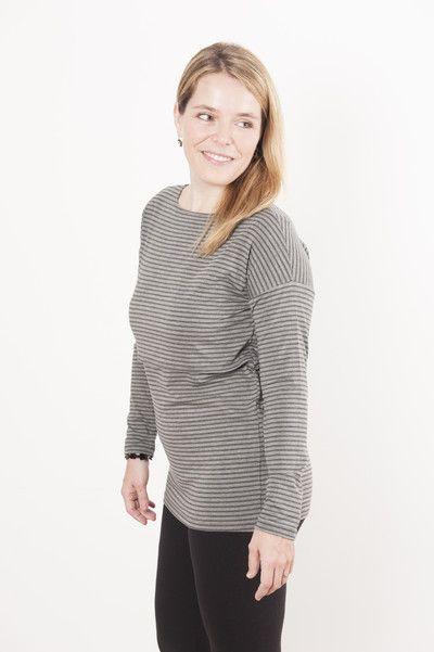 Camiseta Támesis manga larga ideal para el periodo de lactancia pero también compatible en el embarazo