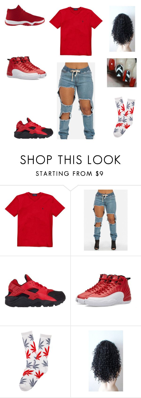 """""""I'm all the way up ☝"""" by aleisharodriguez ❤ liked on Polyvore featuring NIKE and HUF"""