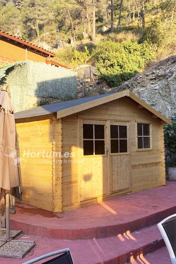 Casa De Madera 400x300 Cm 28 Mm 11 92 M En 2021 Caseta De Madera De Madera Casa De Madera