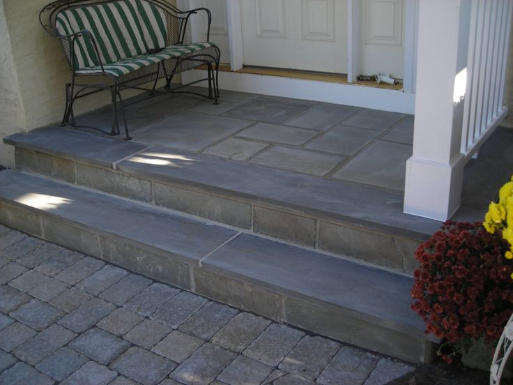 Bluestone Landing With Bluestone Step Outdoors Brick