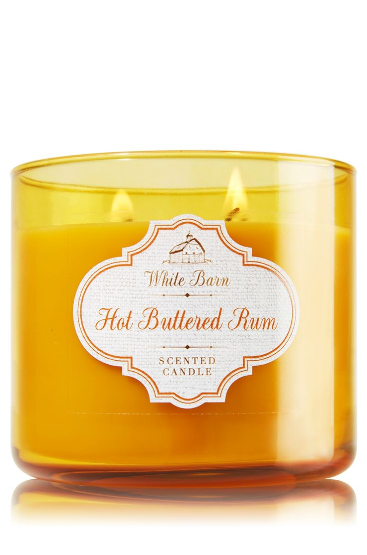Hot Buttered Rum 3 Wick Candle Home Fragrance 1037181
