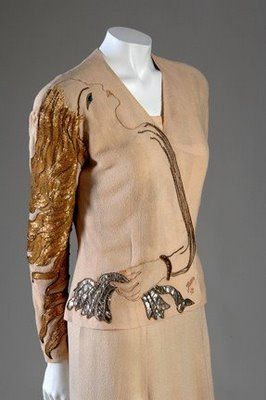 The fashion of Paris: Elsa Schiaparelli learned all about Surrealism in the Twenties (although this dress is from the Thirties)