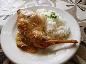 Pomalý hrnec : Králík na česneku v pomalém hrnci