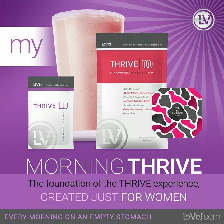 Strawberry Banana 8-10 oz. unsweetened almond milk 2-3 whole frozen strawberries 1/2 med sized banana (optional) shake mix Blend well. Healthy Recipe...Thrive Patch...Level Thrive...Thrive Experience