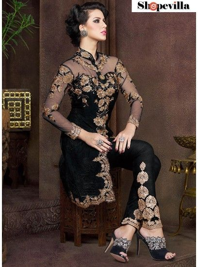 A Modern Look Pant Style Black Suit-4805-BB