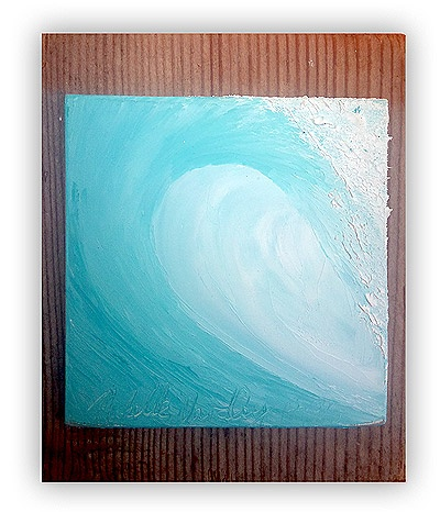 aqua wave painting by Michelle Wardley (Inspiration for part of a Christmas present)