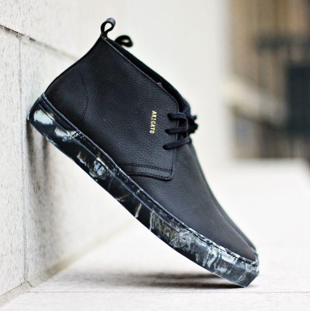 Axel Arigato black chukka sneaker with marble sole www.axelarigato.com #axelarigato