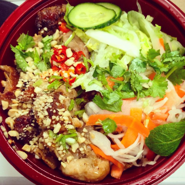 A bowl of my favourite things. Vietnamese is always a winner!